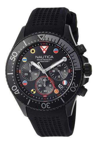 Reloj nautica napwpc003 hombre pulso goma negro original