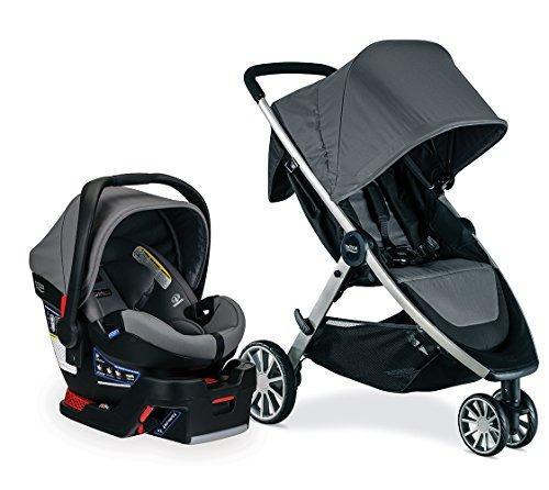 Britax b-lively b-safe grey travel system coche + silla bebe