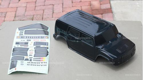 Carcasa carro hummer 88112 con escala 1-10 rc cuerpo shell