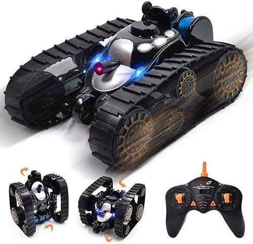 Carro control remoto rc niño rc tanque de batalla 360grados