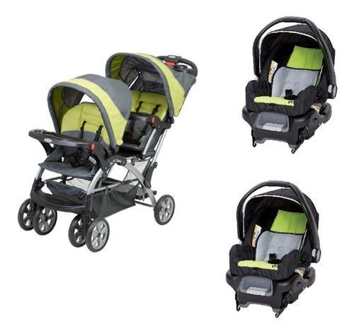 Coche bebe gemelos con silla de carro baby trend sit n stan