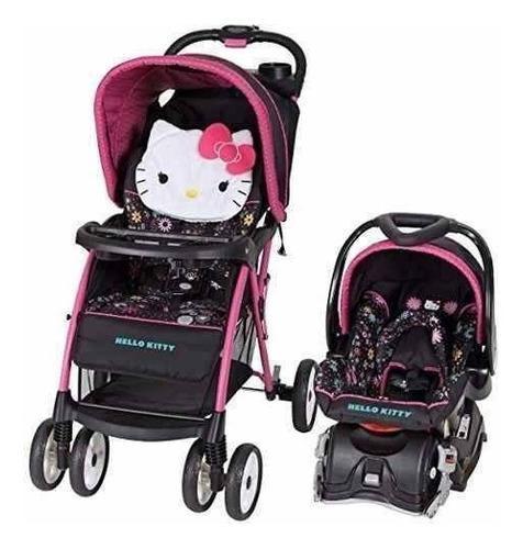 Coche paseador y silla de auto bebe niña - hello kitty