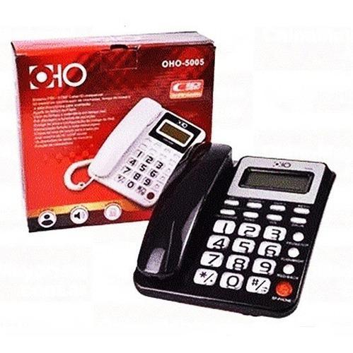 Telefono fijo mesa escritorio oho-5005 identificador llamada