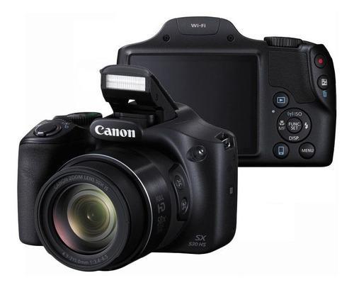 Cámara canon sx 530hs de 16 mp full hd 50x zoom + memoria