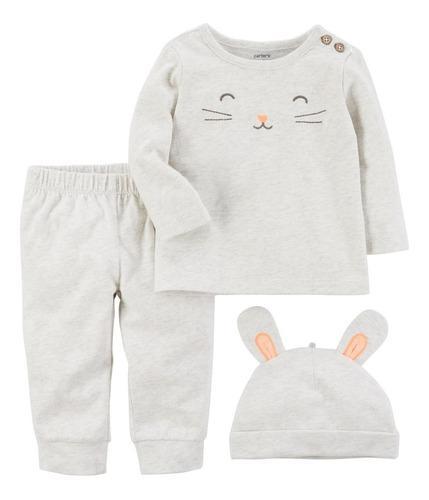 Pijama carters con gorro de conejo unisex talla 12 meses