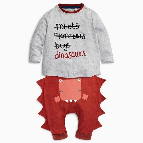 Ropa infantil para niño conjunto sudadera dinosaurios