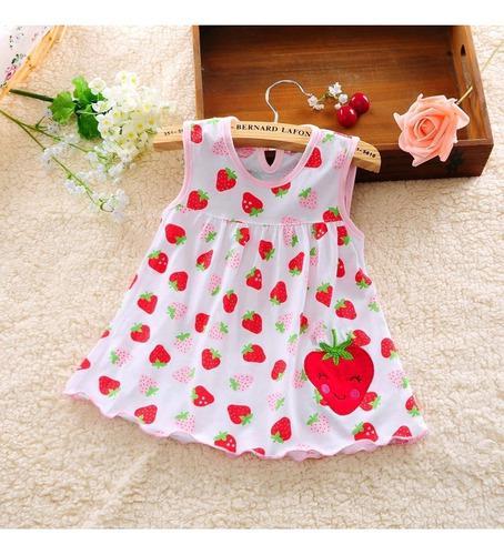 Vestidos para niña bebé_estilo frutal + balaca de obsequio