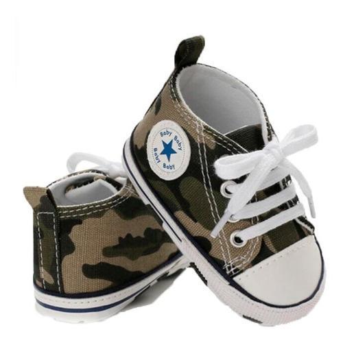 Zapatos, tenis bebe tipo converse deportivo unisex militar