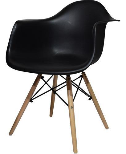Silla de restaurante comedor eames negra en madera pc-082