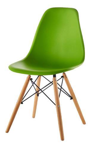 Silla eames comedor restaurante interlocutora madera verde