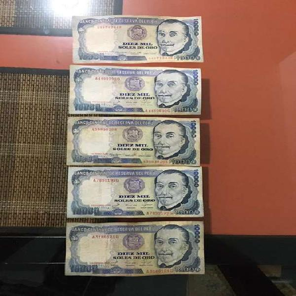 Billetes (soles peruanos de 1980)