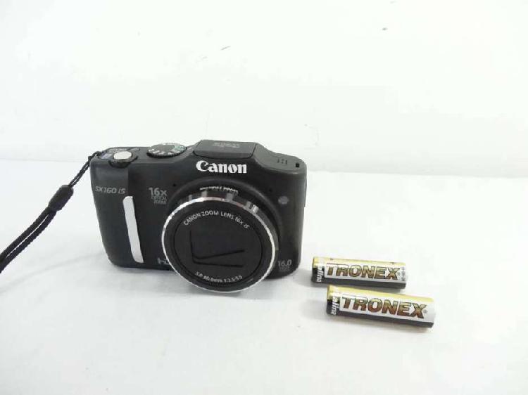 Camara canon powershot 16mpx modelo sx160 is hd 16x zoom