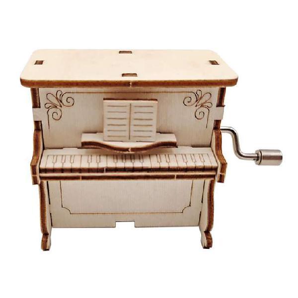 Caja musical para armar piano regalo armable madera arte