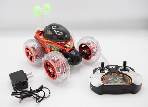 Carro loco a control remoto luces y sonidos acrobacia