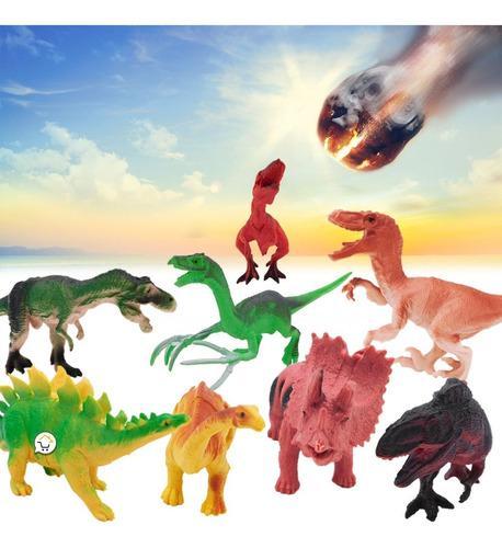Figuras de dinosaurios coleccionables x8 juguete 828-d28