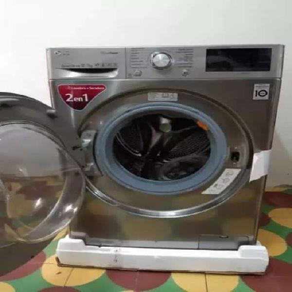 Lavadora secadora lg de 24 libras inverti twin wash