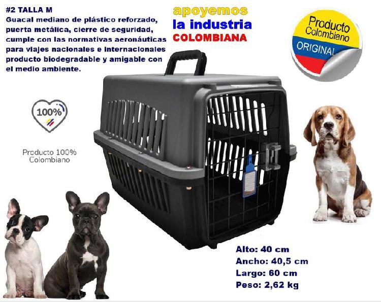 Guacal mediano talla m jaula transportadora para perros