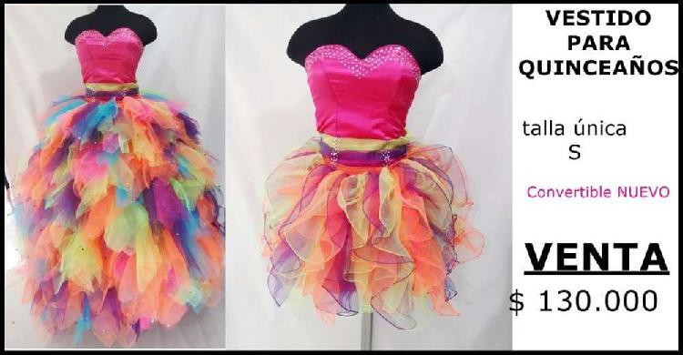 Venta de vestido de quinces convertible colores neon nuevo