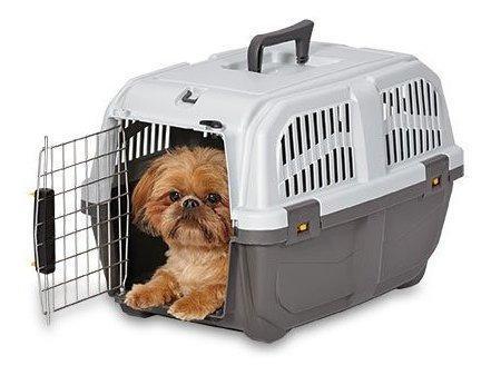 Medio oeste casas para mascotas skudo de plastico portador