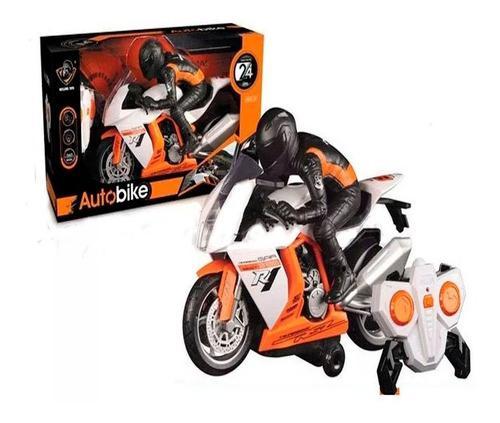 Moto control remoto recargable auto bike carreras