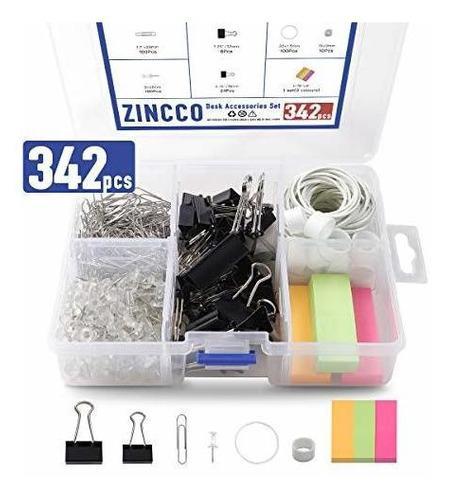 342 pcs kit de suministros de oficina pequeños con contened