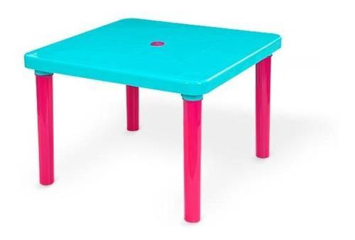 Mesa escritorio infantil plastica niños resistete kits mq