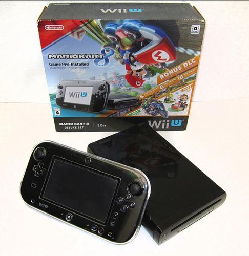 Nintendo wii u 32gb mario kart 8 programada + accesorios