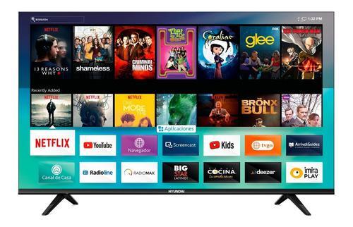 Televisor hyundai 50 pulgadas 4k smart diseño sin borde