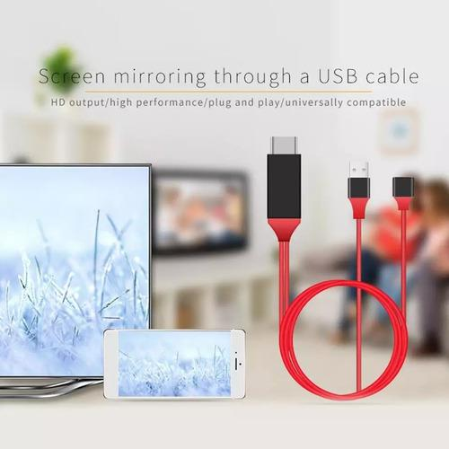 Cable mhl iphone ipad hdmi usb proyector video hdtv