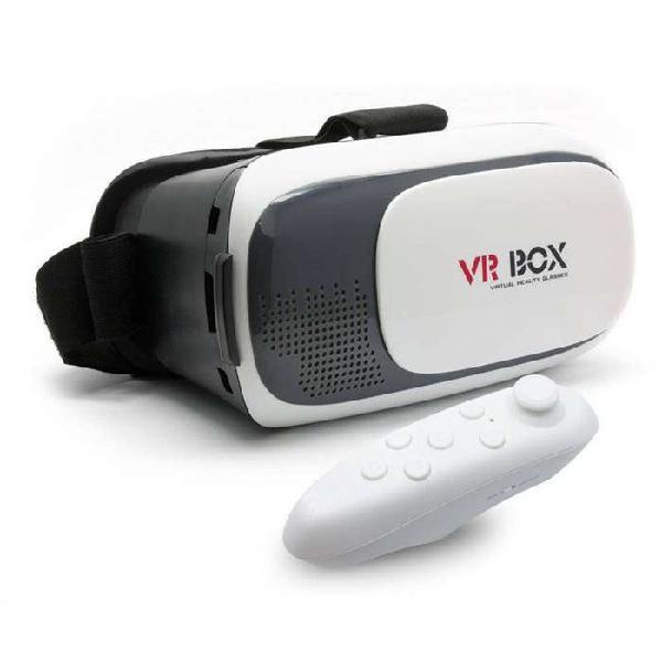 Gafas lentes 3d de realidad virtual vr box 2.0 con control