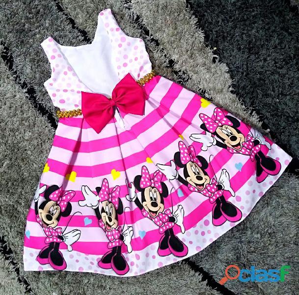 Vestidos de Fiesta para niñas Minnie Mouse 3