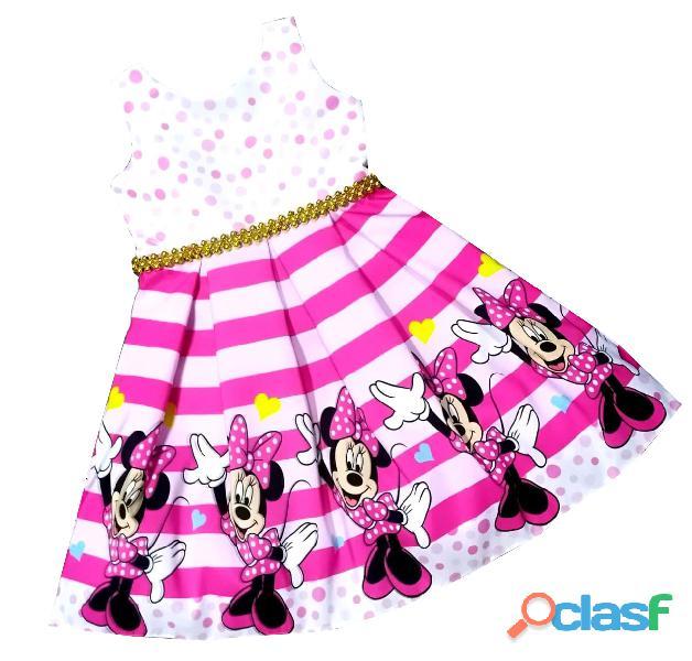 Vestidos de Fiesta para niñas Minnie Mouse 4