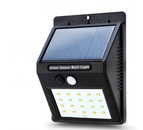 Lampara solar exteriores con sensor de movimiento recargable