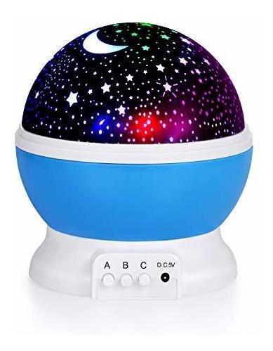 Niños luz noche estrella, 360 grados rotación proyector