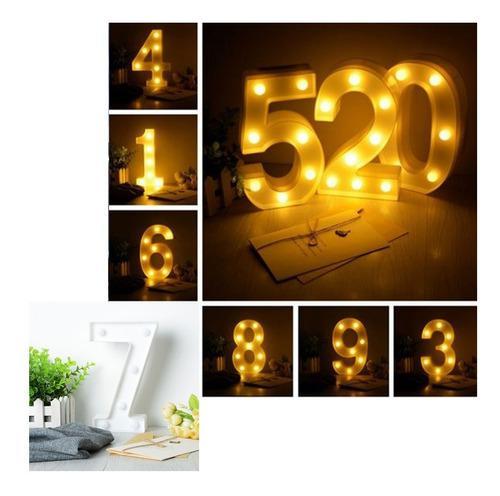 Números luz led lampara decorativa luces hogar fiestas