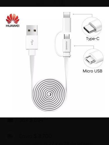Cable usb original huawei tipo c 2 en 1 tipo c y microusb