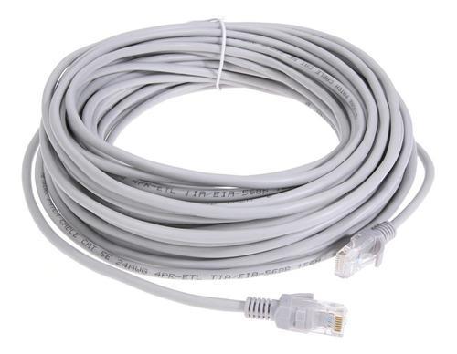 Cable utp cat 5e 100% cobre red internet ponchado x metro