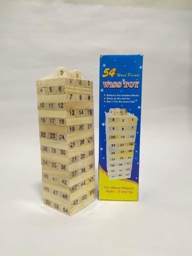 Jenga de 54 piezas 4 dados piezas 4cms wiss toys multijugado