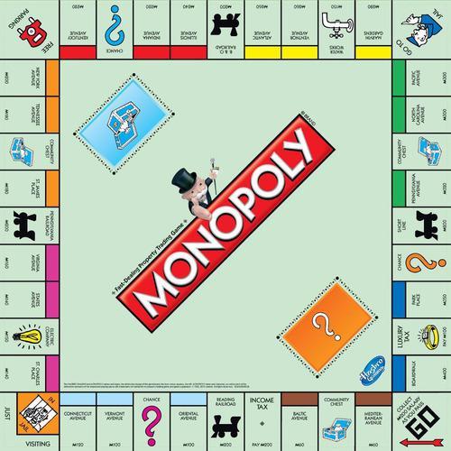 Monopoly clásico original hasbro juego familiar tolken