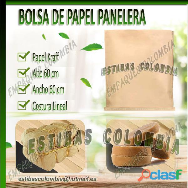 Bolsa panelera en papel