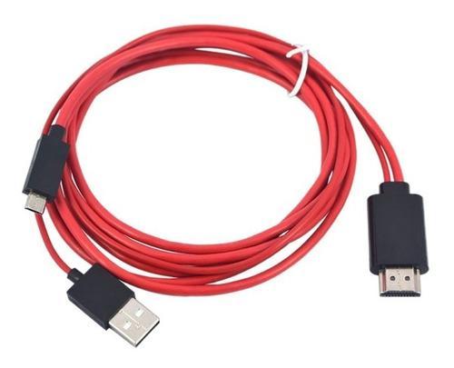 Cable adaptador micro usb mhl a hdmi tv samsung s3 s4 s5