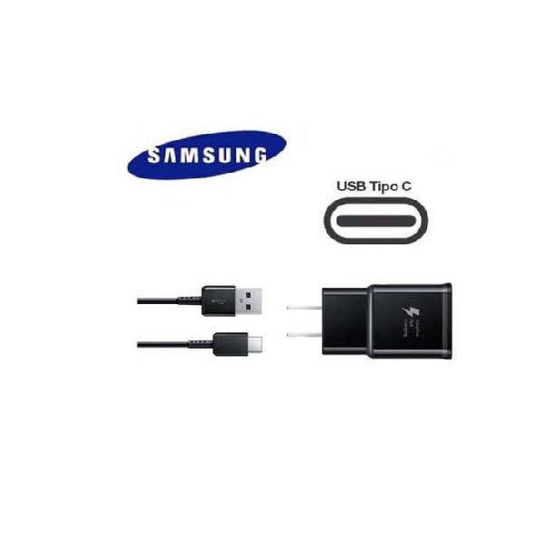 Cargador celular samsung carga rápida con cable usb tipo c