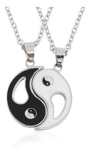 Collar con dije yin yang para parejas novios colección 2020