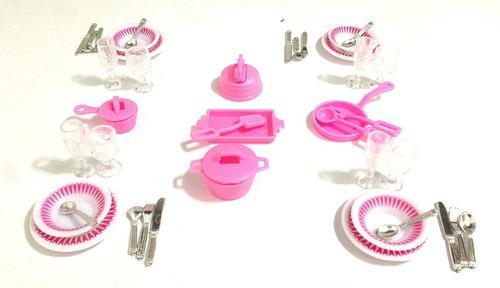 Muebles accesorios casa muñecas barbie original plato vaso