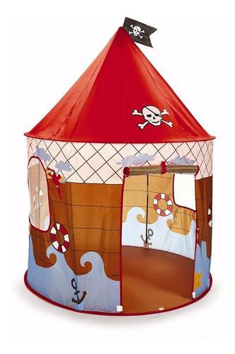 Carpa castillo pirata autoarmable niños casa jardin playa