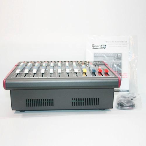 Consola mixer 8 canales profesional dj powered bluetooh usb