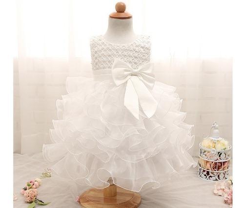 Vestido bebe niña bautizo pajecita fiesta boda elegante