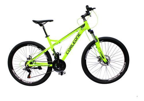 Bicicleta corleone aluminio shimano rin 26 bloq suspens 21v