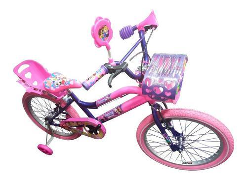 Bicicleta princesas para niña rin 20 para 7 a 12 años