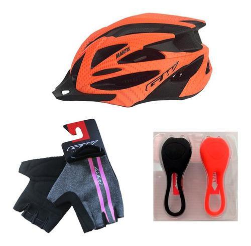 Casco gw + guantes gw + luces gw ciclismo mtb ruta